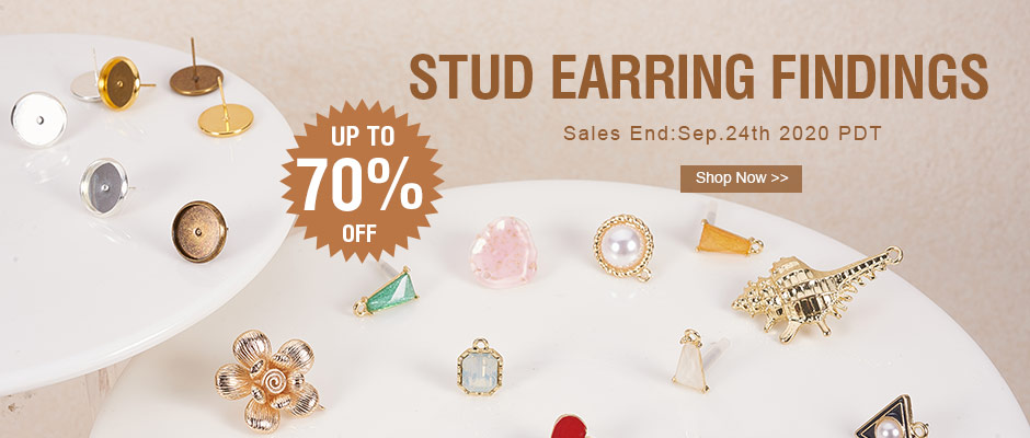 Stud Earring Findings UP TO 70% OFF